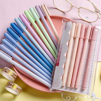 20489/莫兰迪色系中性笔做记笔记专用学生用彩色文具套装水性笔芯日系in