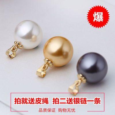 珍珠吊坠女单颗项链925锁骨链韩国时尚百搭简约贝壳珠项坠子饰品