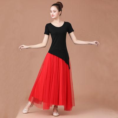 37650/广场舞服装新款套装夏季短袖女大妈大摆裙舞蹈服两件套跳舞衣套裙