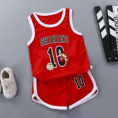 男童背心无袖短裤套装夏季1-10岁儿童篮球服速干运动服女童两件套
