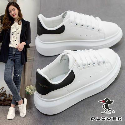 11347/PLOVER啄木鸟夏季小白鞋女2021新款百搭学生韩版透气厚底白色女鞋
