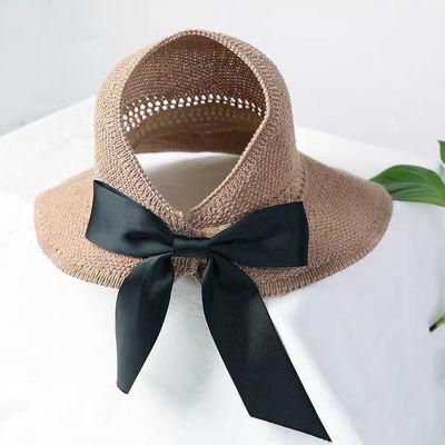 23244/春夏百搭太阳帽女空顶帽网红遮阳帽大帽檐防晒帽子凉帽时尚可折叠
