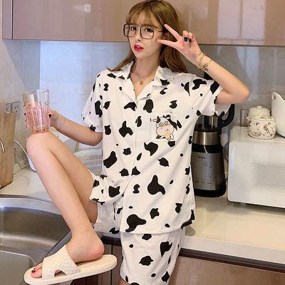 40835/睡衣女夏季2021新款短袖短裤夏天甜美学生女士可外穿两件套家居服