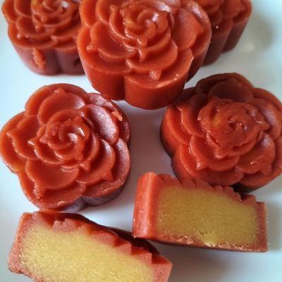 绿豆糕水晶月饼冰沙糕网红休闲小食品传统工艺老味糕点4种口味