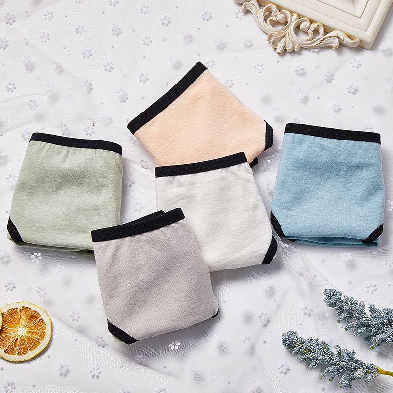纯棉中腰内裤纯色系