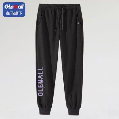 森马旗下潮牌GleMall2021新款夏季潮流男速干裤宽松运动休闲裤D