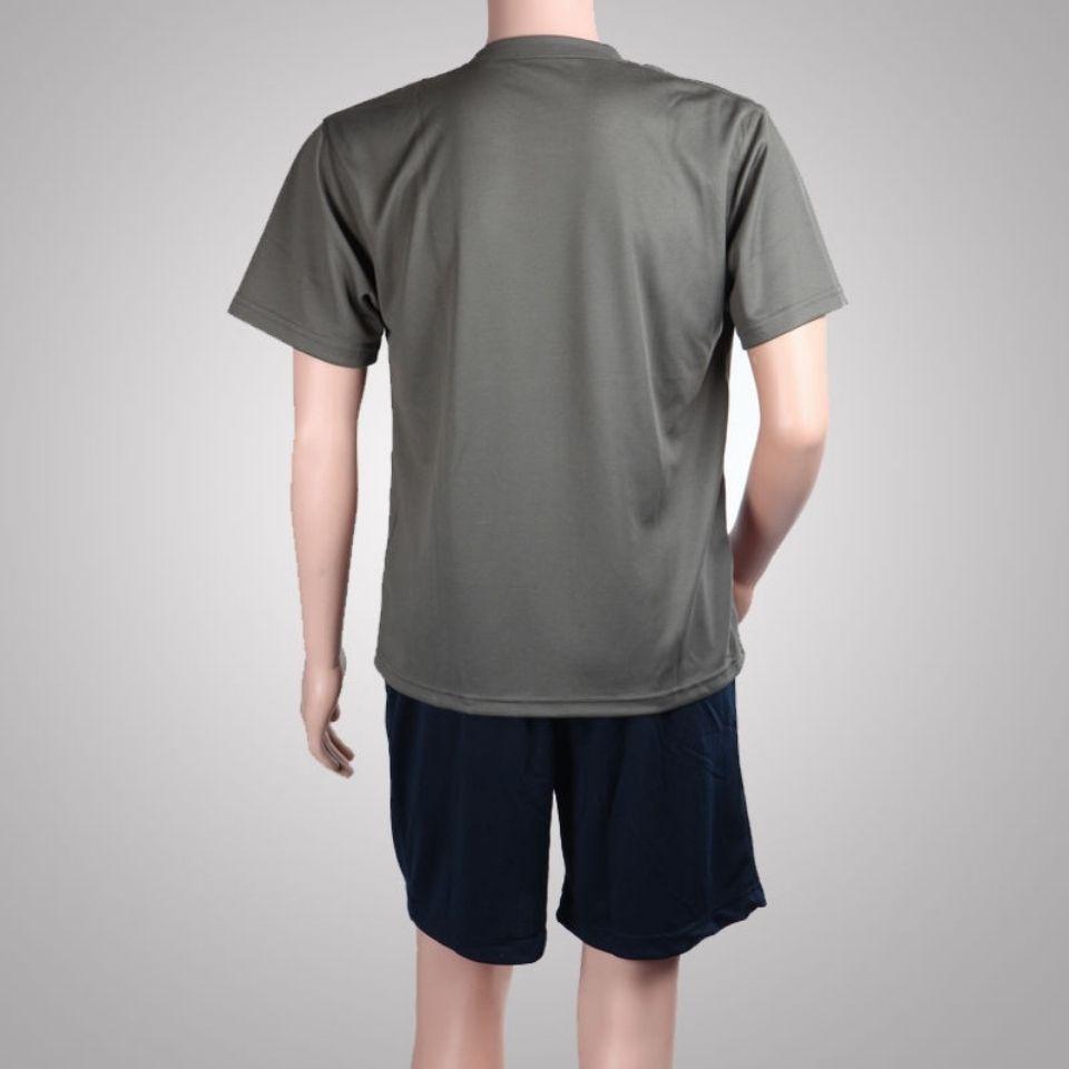 54251-正品体能训练服 半袖短裤套装 圆领汗衫T恤训练体能服-详情图
