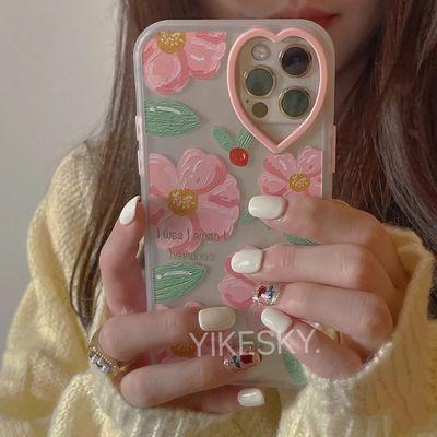 20303/爱心摄像头花朵iPhone12手机壳苹果11网红x/xr/xsmax软7p/8plus女