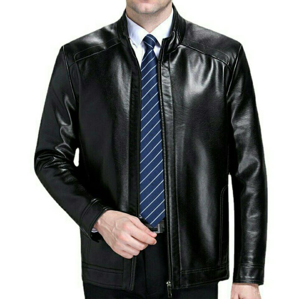外套男春秋立领皮衣男薄款夹克