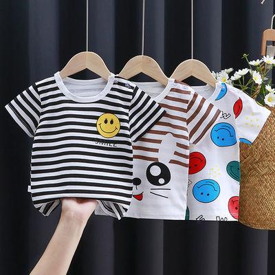 100%纯棉儿童内衣短袖夏季男女童宝宝纯棉T恤半袖体恤单上衣0-7岁