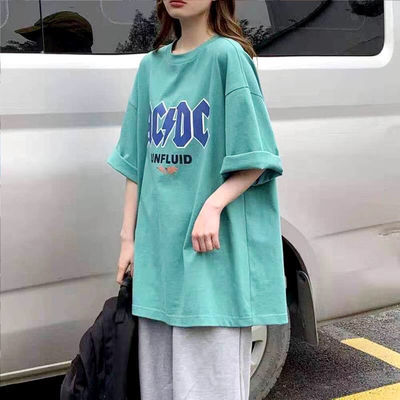 夏季新款棉t恤女学生韩版短袖宽松原宿风网红款体恤衫ins上衣服潮