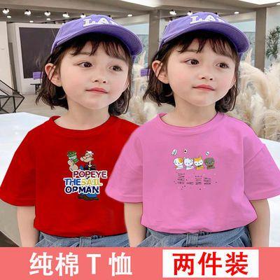 纯棉儿童t恤短袖童装上衣2021新款韩版小孩衣服女童上衣宝宝打底