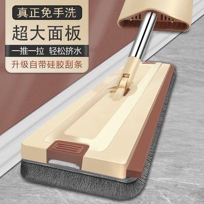 [升级硅胶刮条]拖地拖把免手洗神器一拖净家用拖布多功能懒人平拖