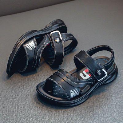 36001/男童真皮凉鞋新款童鞋帅气软底韩版时尚中大童夏季鞋子男孩沙滩鞋