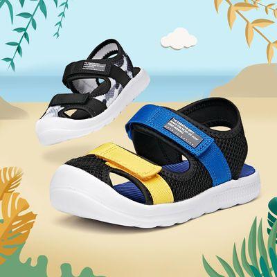 33236/安踏儿童包头凉鞋男小童沙滩鞋2021年新款夏季清爽时尚儿童凉鞋
