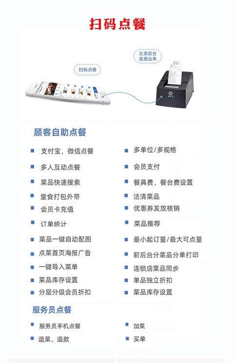 掃碼點餐系統 顧客自助掃碼點菜餐飲收銀管理軟件系統加打印機-折小型照片打印機 照片打印機