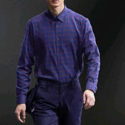 7158/优品剪标时尚休闲男式长袖衬衫MPH072