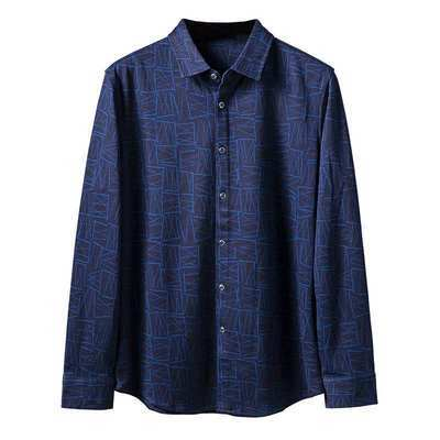 7881/优品剪标时尚休闲男式长袖衬衫HLTT3V011