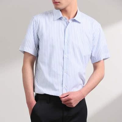 7590/优品剪标时尚休闲男式短袖衬衫HLZLJV507