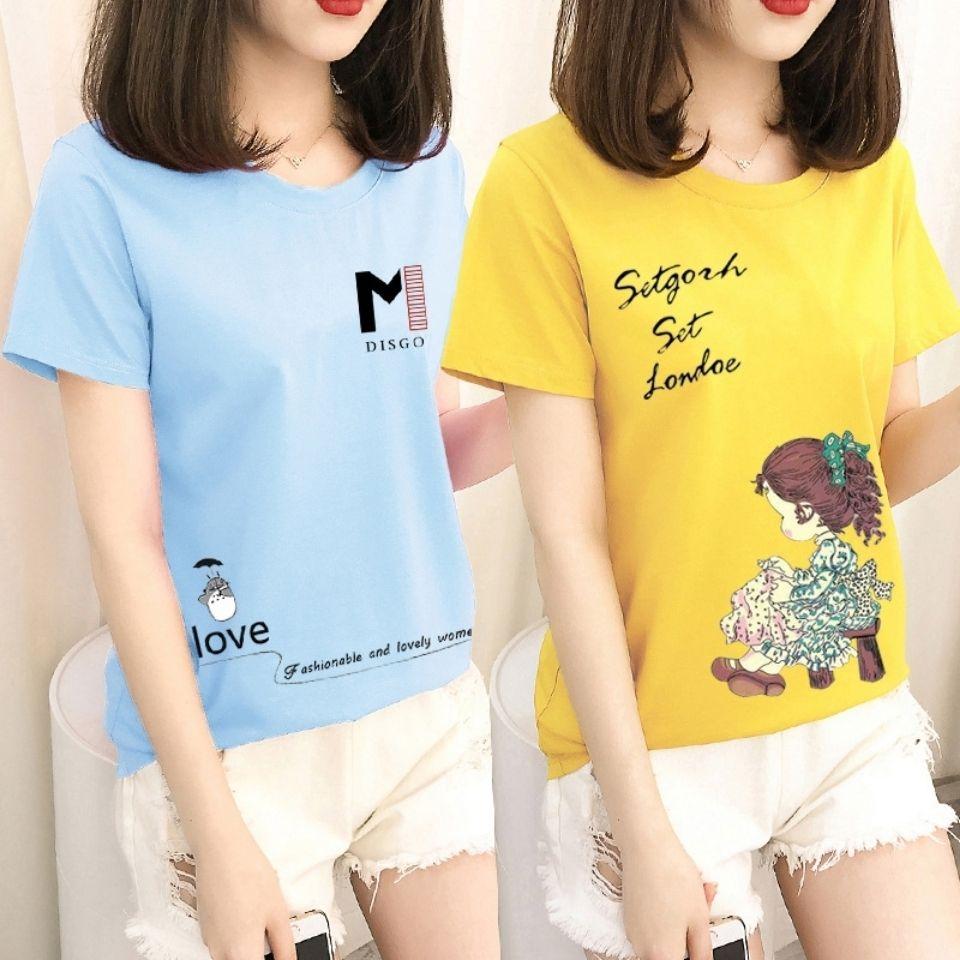 夏季新款短袖t恤女韩版圆领打底衫