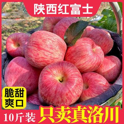 陕西正宗洛川红富士苹果水果批发新鲜当季冰糖心脆甜整箱10斤