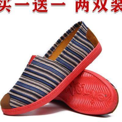 58468/老北京布鞋女一脚蹬软底百搭平底帆布鞋妈妈鞋