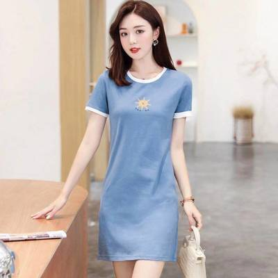 40396/纯棉中长款连衣裙女夏新款超仙森系收腰显瘦中国风设计感甜美气质