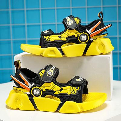 36686/ABC男童凉鞋2021新款夏季真皮儿童男中大童沙滩鞋软底学生防滑鞋