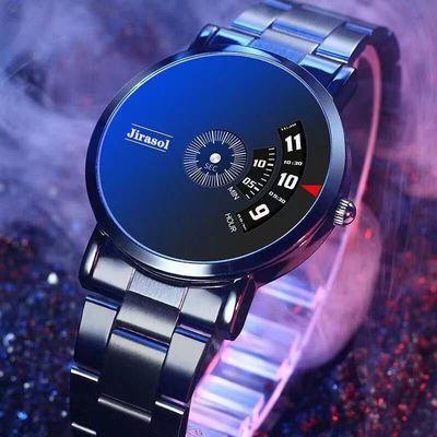 【专柜正品】手表男学生韩版时尚黑科技非机械表高档男士石英手表