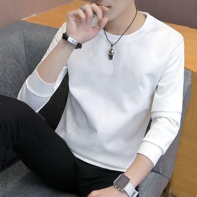 65328/春秋季男士韩版长袖T恤卫衣男生圆领上衣男装t恤打底衫