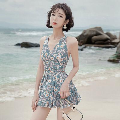 14625/游泳衣女新款遮肚显瘦性感女士连体保守韩国ins超仙大码温泉泳装