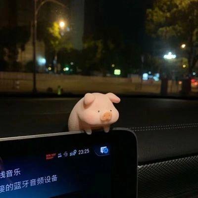 93172/汽车中控台摆件桌面车内饰品创意可爱ins网红猪车载装饰用品大全