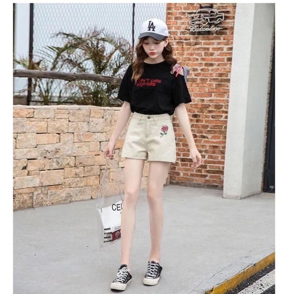 牛仔短裤女2021夏季新款韩版
