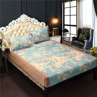 冰丝席凉席600D欧式床笠款三件套可折叠空调软席可机洗1.5m