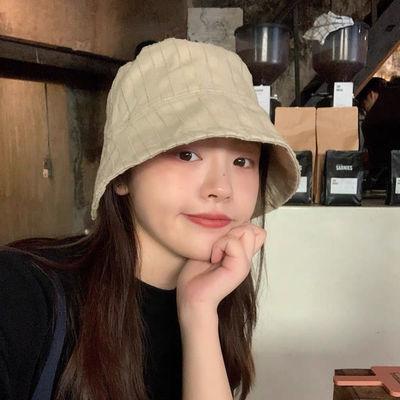 日本小众设计纯色复古水桶帽韩版ins风渔夫帽女夏季防晒遮阳帽子