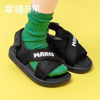 56960/儿童凉鞋男夏男童女童中大童2021新款男孩软底防滑小童宝宝沙滩鞋