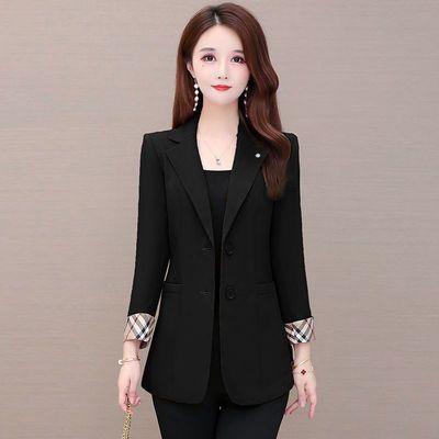 7174/黑色西装外套女2021春秋季新款韩版时尚气质炸街小西服西装外套