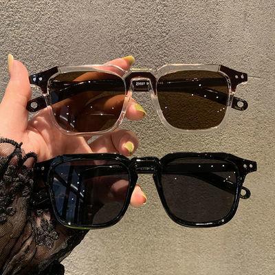 28244/新款复古韩版遮阳小方框墨镜女潮个性男情侣圆脸欧美时尚太阳眼镜