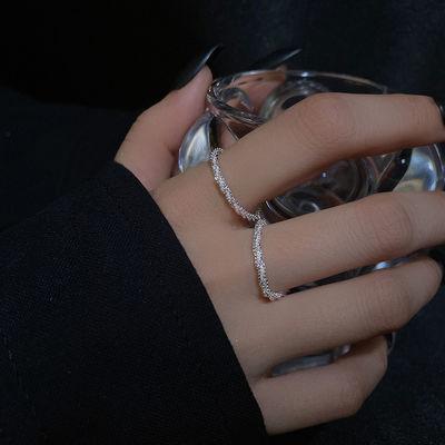 21362/波光粼粼素圈戒指女ins小众设计网红指环尾戒时尚个性精致食指戒