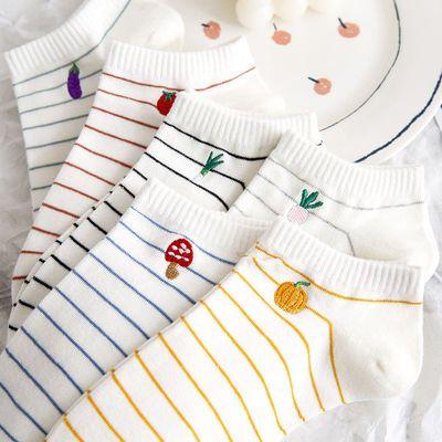 10双袜子女夏季薄款韩版船袜ins短袜日系浅口学生小雏菊卡通网红