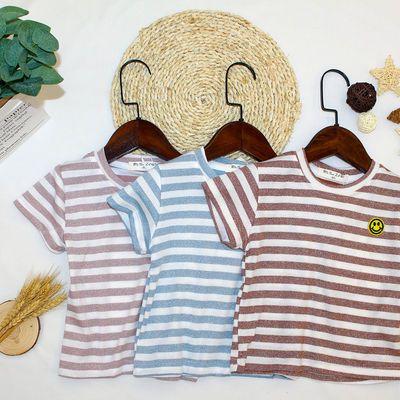 男童女童短袖T恤夏装2021年新款童装儿童条纹上衣宝宝夏季衣服潮