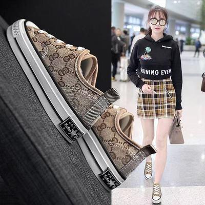 三次硫化帆布鞋女2021夏季韩版新款学生百搭休闲透气运动布鞋板鞋