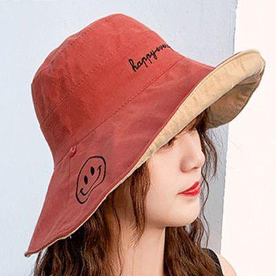 帽子女夏季新款双面洋气遮阳渔夫帽百搭显瘦防晒紫外线遮脸太阳帽