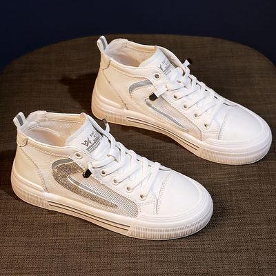小白鞋女2021年春季新款韩版网面透气运动休闲板鞋ins潮爆