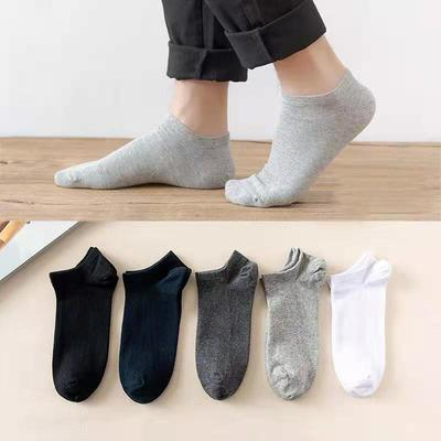 78525/夏天袜子男薄款纯色男士短袜低帮防臭吸汗浅口隐形船袜百搭运动袜