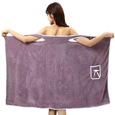 加大码90-180斤可穿浴巾女成人吊带浴裙珊瑚绒柔软超强吸水不掉毛