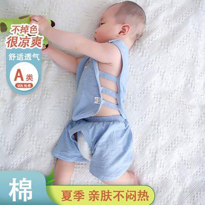 婴儿夏季套装薄款短裤夏装宝宝女夏天分体男婴幼儿琵琶衣服两件套