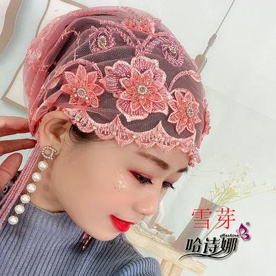 36184/哈诗娜2021春季新款纱巾帽子重手工流苏款防风遮白发舒适透气包邮
