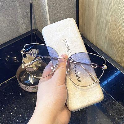 36495/韩版ins网红茶色墨镜女时尚街拍小脸蝶形方框眼镜凹造型太阳镜潮