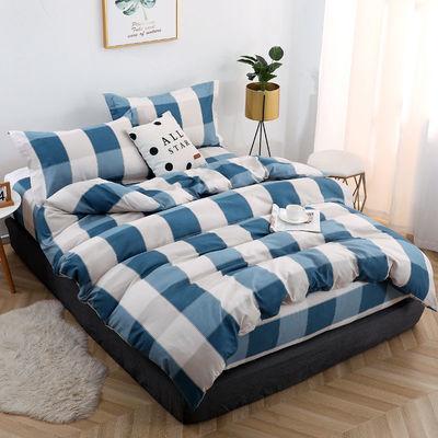 四件套床上用品水洗棉亲肤磨毛网红款床单学生宿舍三件套床上用品